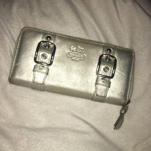 Handbags - Coach silver sparkle wallet